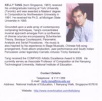 Kelly Tang : works vol. 3