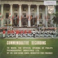 Commemorative recording to mark the official opening of Philips Phonographic Industries Ltd.
