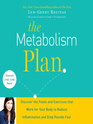 The metabolism plan  : Discover the Foods and Exercises That Work for Your Body to Reduce Inflammation and Drop Pounds Fast. Lyn-Genet Recitas.