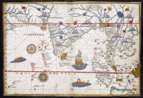 A chart of the coast of Asia, from Cochin China on the east, to Ormus on the west, with Sumatra, Java, and part of Borneo; drawn in 1578, by Joan Martines of Messina (Shelfmark(s): Harley MS 3450)